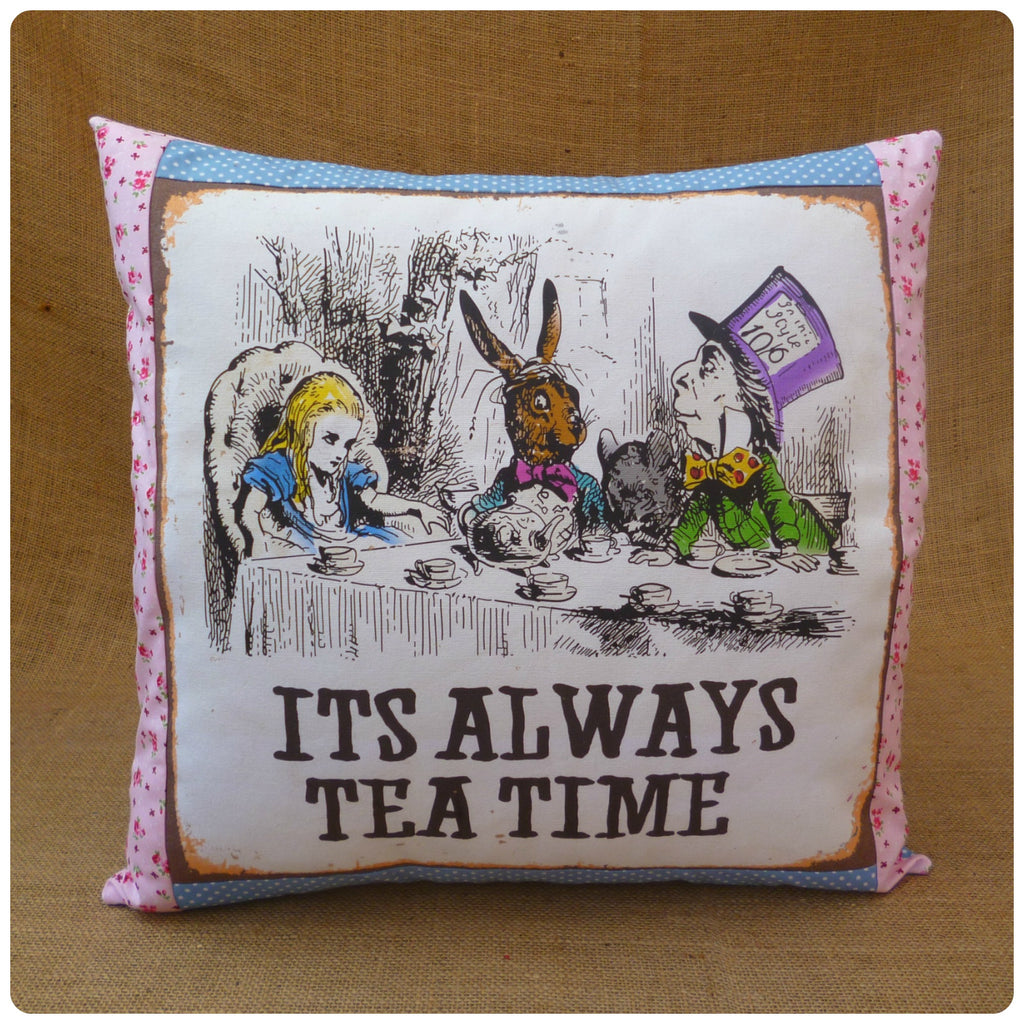 Mad Hatter's Tea Party Alice Cushion