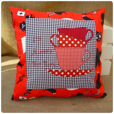 It's Always Tea Time Alice Cushion