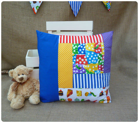 Large Caterpillar Scatter Cushion (Can be Personalised)