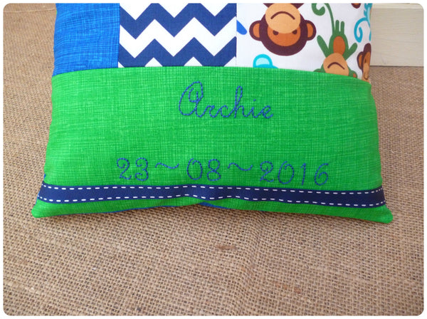 Monkey Baby Name Cushion