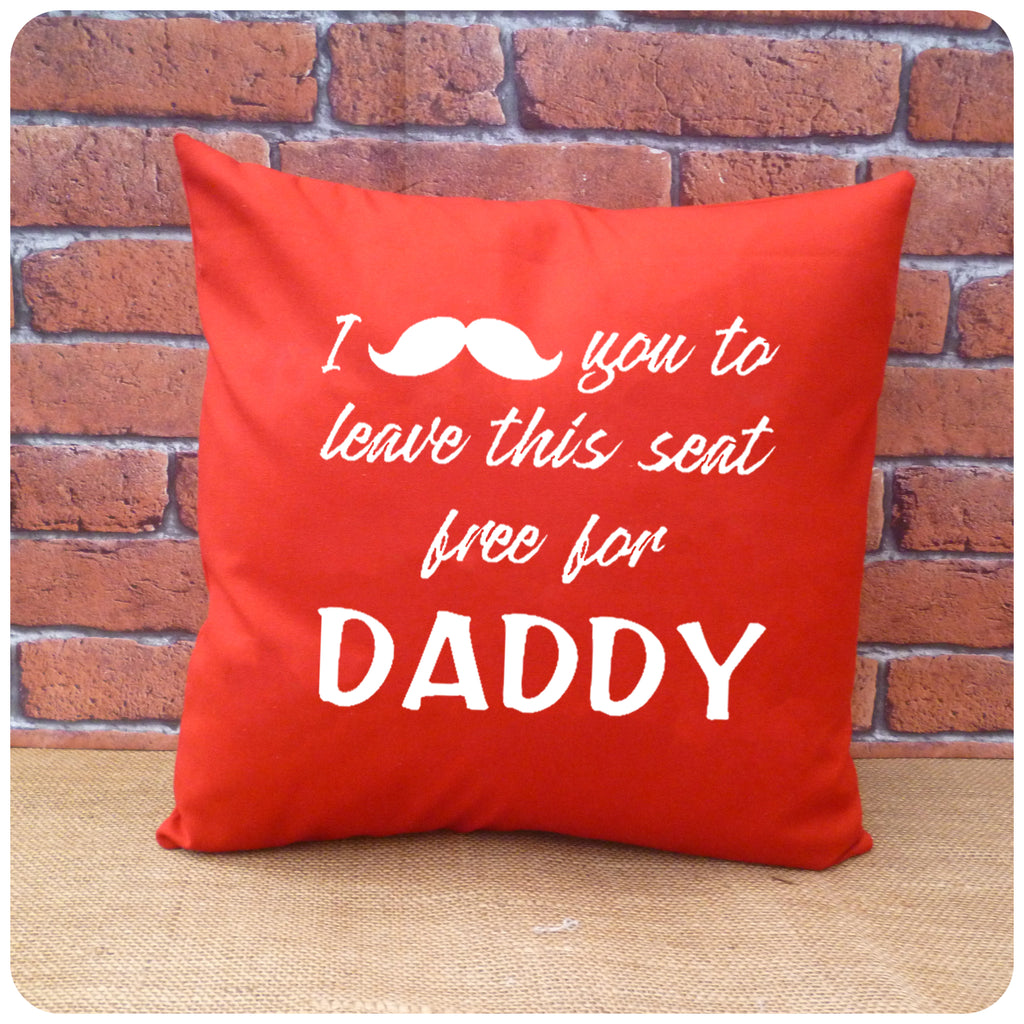 Moustache Cushion for Daddy, Gift for Dad, Choice of Colours