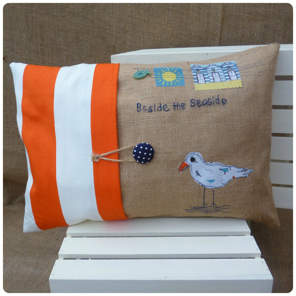 Nautical Seagull Cushion