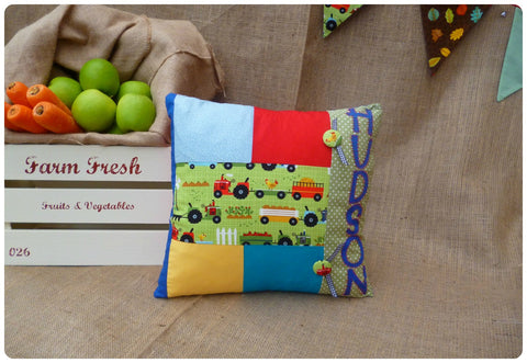On The Farm Patchwork Cushion (Can be Personalised)