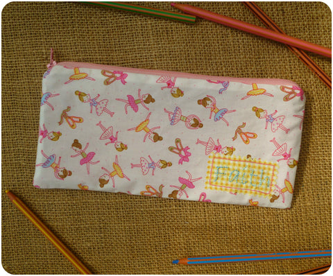 Ballerina Pencil Case (Can be Personalised)