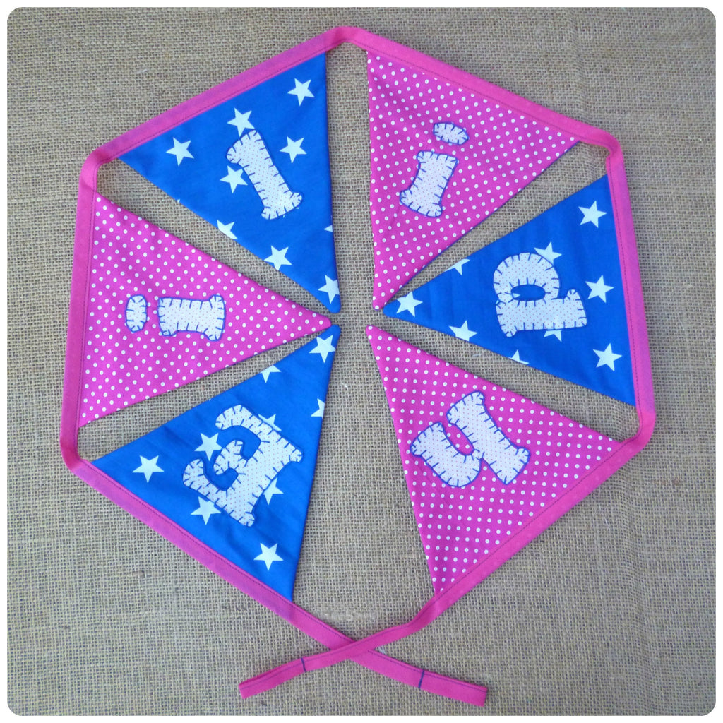 Stars and Spots Bunting (Can be Personalised)
