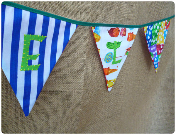 Caterpillar Bunting (Can be Personalised)