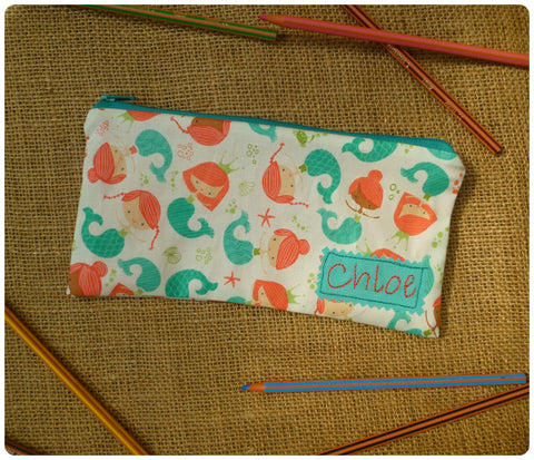 Mermaid Pencil Case (Can be personalised)