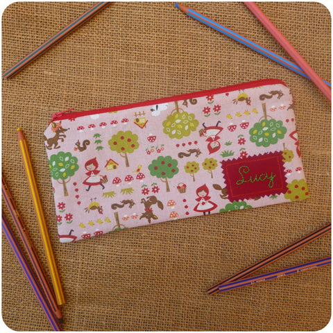 Red Riding Hood Pencil Case (Can be Personalised)