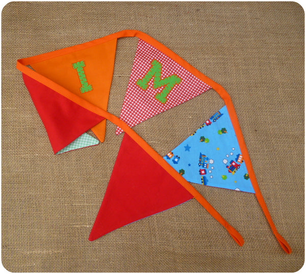 Train Bunting (Can be Personalised)