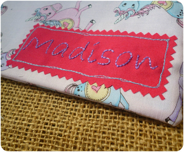 Unicorn Pencil Case (Can be Personalised)