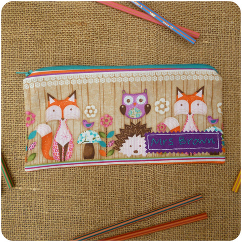 Woodland Critters Pencil Case (Can be Personalised)