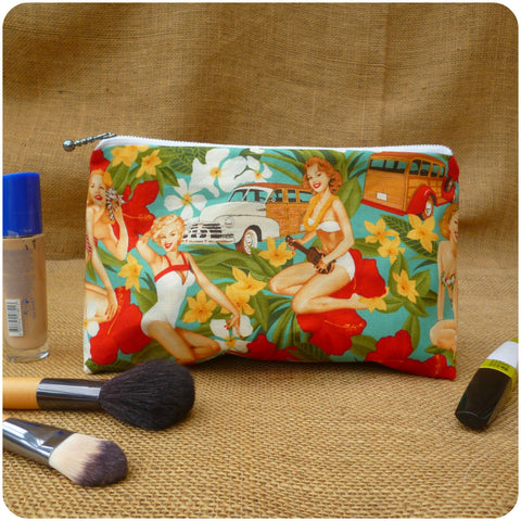 Pin Up Girl Make Up Bag, Front View