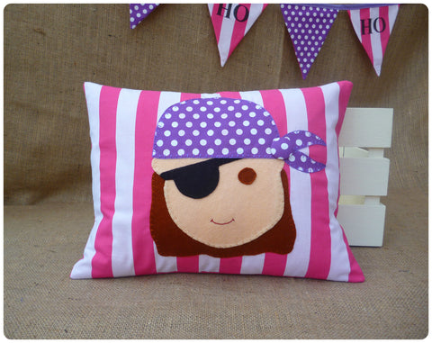 Pink Pirate Face Cushion