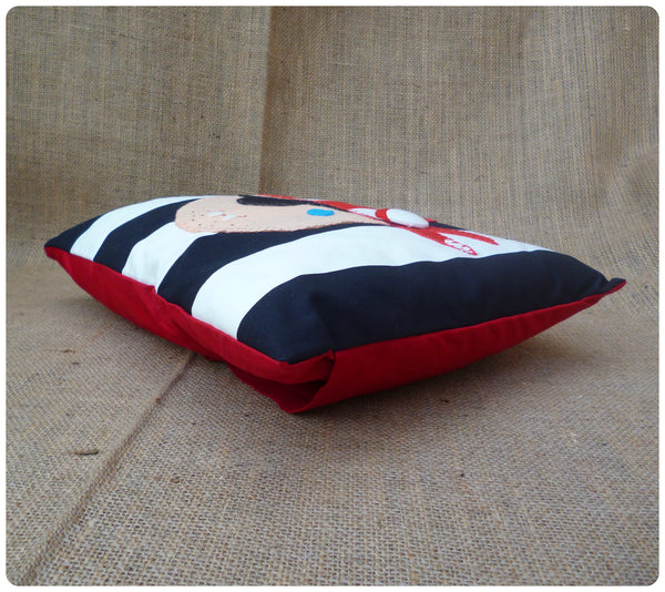Black Pirate Face Cushion