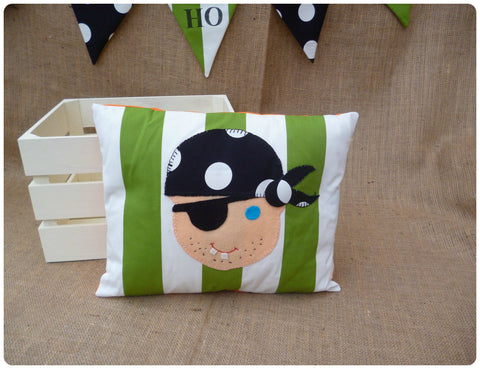 Green Pirate Face Cushion