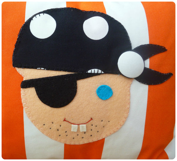 Orange Pirate Face Cushion