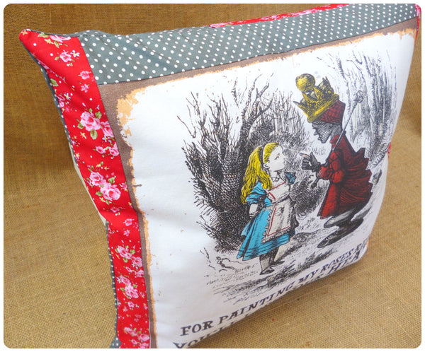 Queen of Hearts Alice Cushion