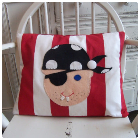 Red Pirate Face Cushion