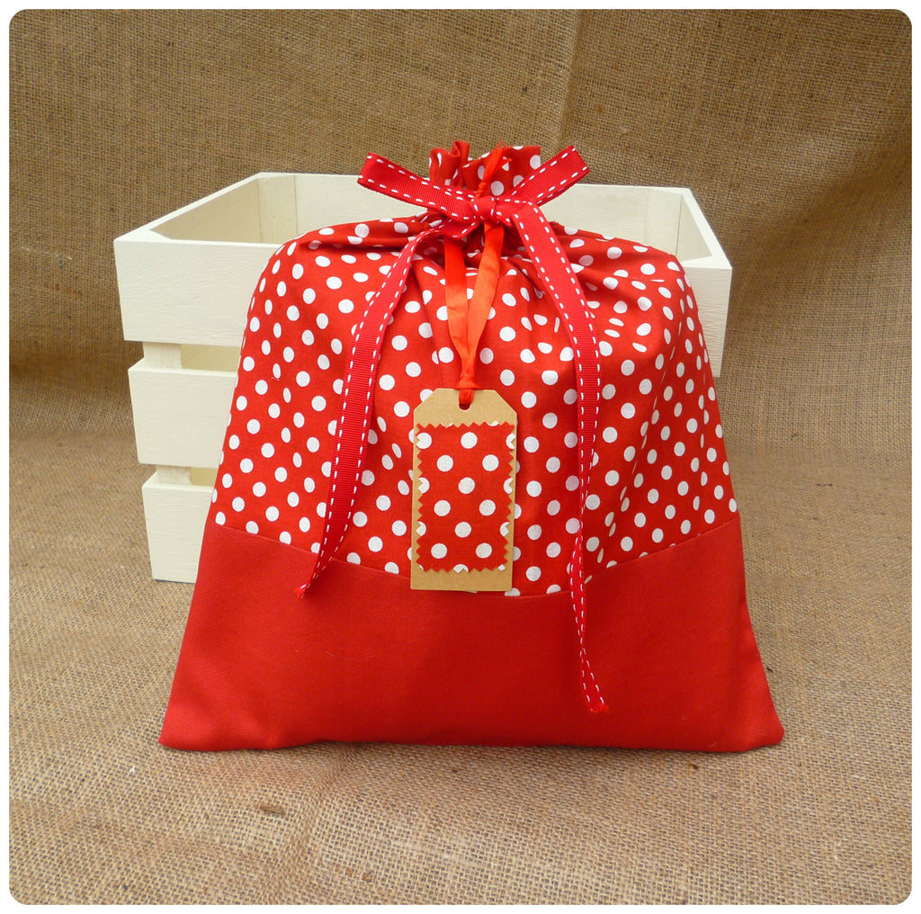 Polka Dot Bag and Gift Tag