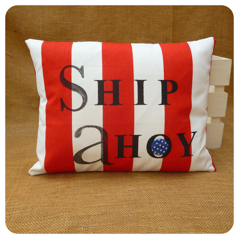 Striped Nautical Cushion