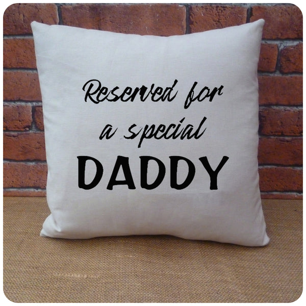 Daddy Cushion, Handmade Gifts for Dad, Choice of Colours