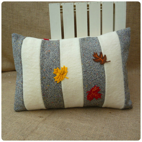Striped Leaves Cushion