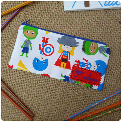 Super Boy Pencil Case (Can be Personalised)