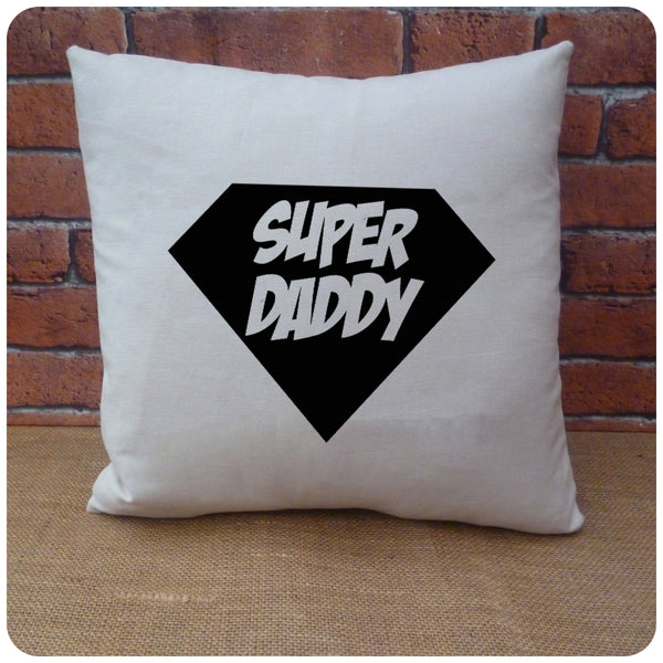 Super Dad Cushion, Pillow for Daddy, Choice of Colours