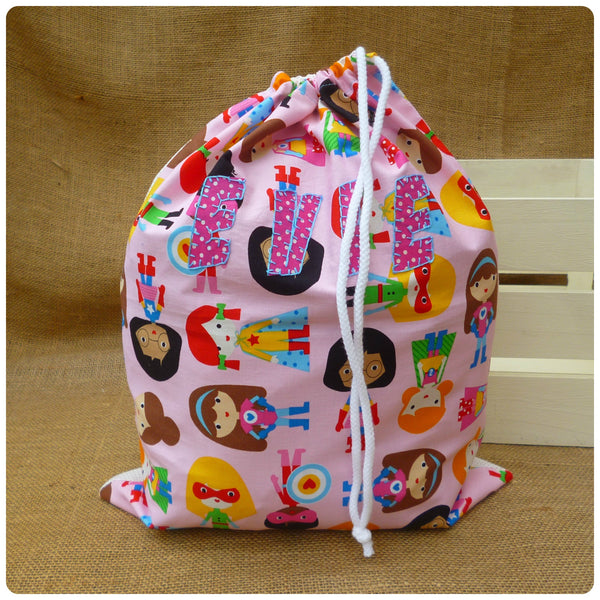 Super Girl Drawstring Bag