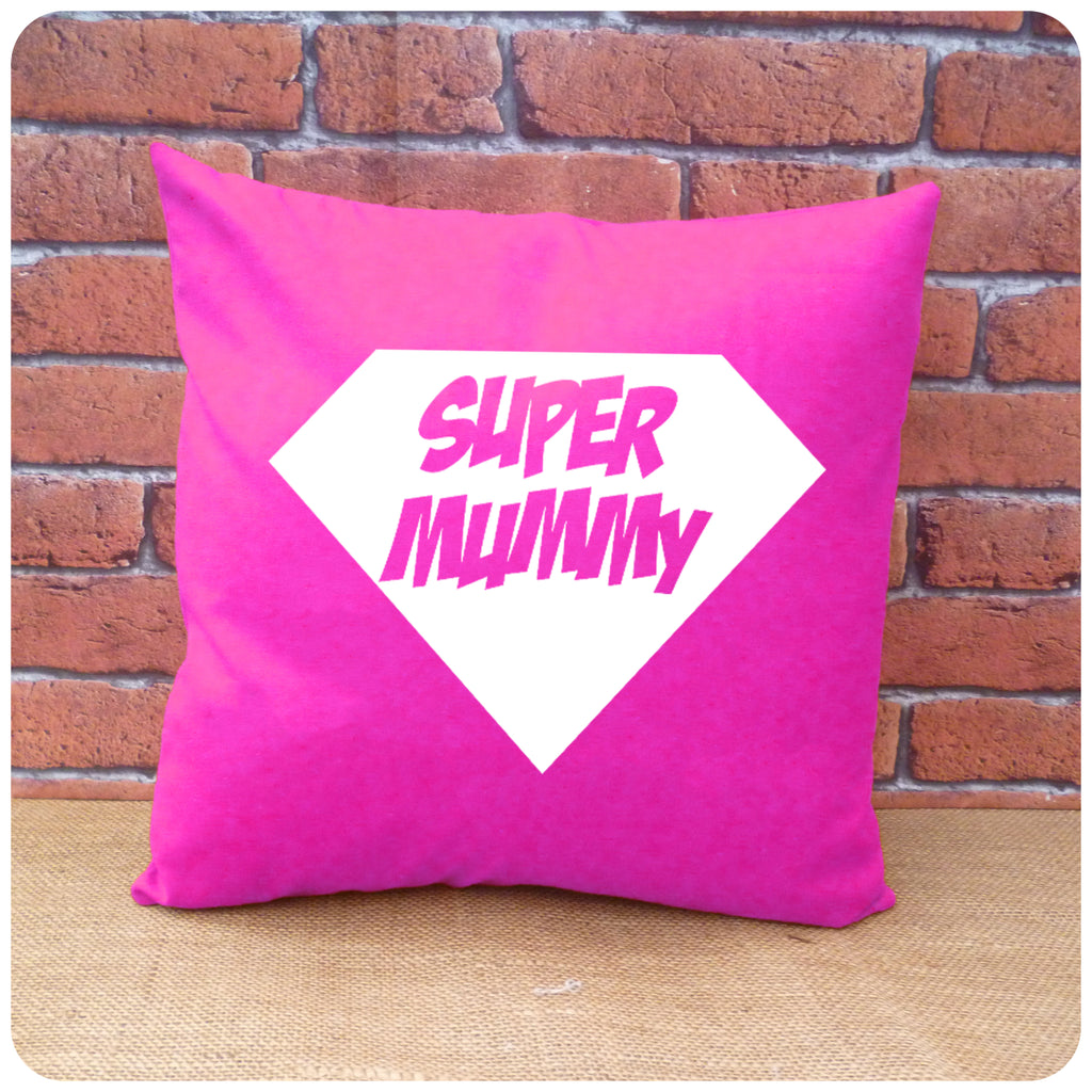 Super Mum Cushion Choice of Colours and Personalisation
