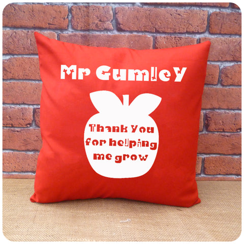 Personalised Thank You Teacher Cushion, Personalised Teacher Gift