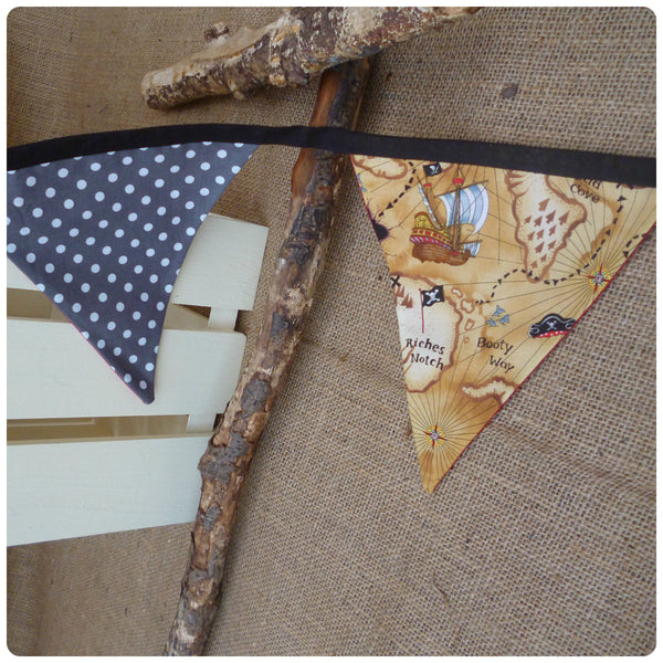 Pirate Treasure Map Bunting (Can be Personalised)