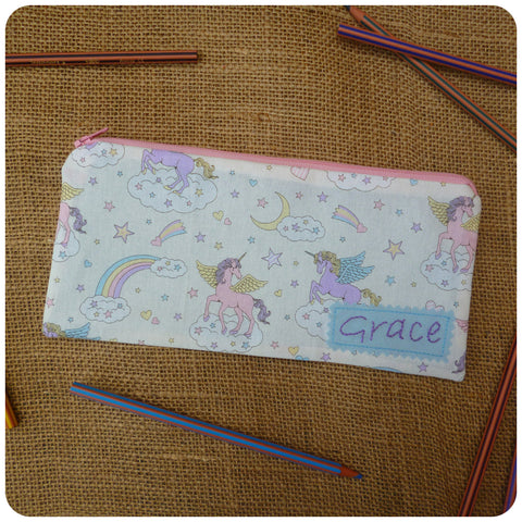 Personalised Pencil Case, Unicorn Pencil Case