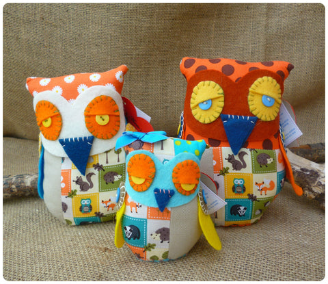 Woodland Fatty Owl Family
