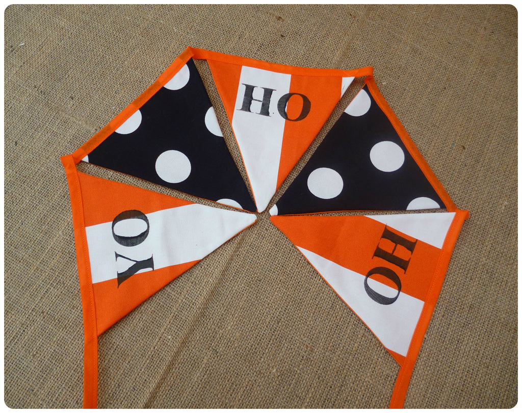 Orange Yo Ho Ho Bunting