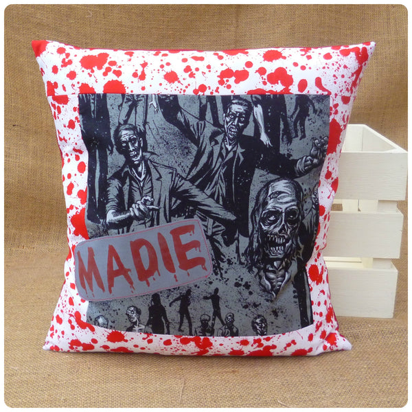 Walking Dead Inspired Zombie Name Patch Cushion