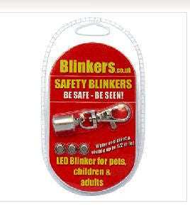Safety Blinker for Dog Collar flashing Red, White, Blue and Red white and Blue