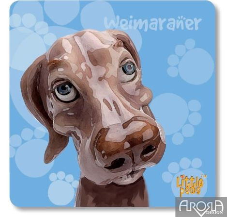 Little Paws Weimarana fun Dog Coaster by Arora Design