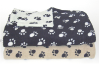Best Friends De-Lux soft Paw Print Pet Blankets