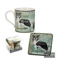 Pedigree Pals Border Collie Mug & Coaster