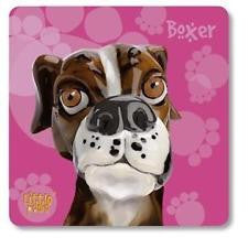 Little Paws Boxer Fun Dog Breed Coaster by Arora Design