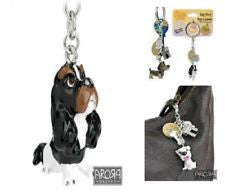 Arora Little Paws Key Ring and Bag Charm Cavalier King Charles Spaniel