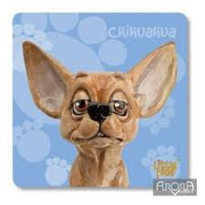 Little Paws Chihuahua fun Dog Breed Coaster by Arora Design