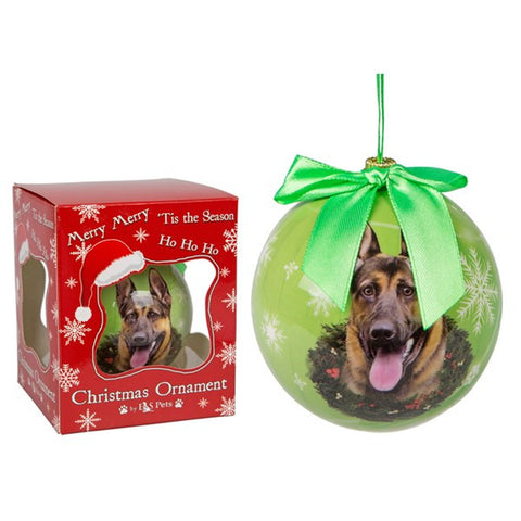 German Shepherd Christmas Ornament