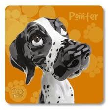 Little Paws Pointer (Black and White) - Coaster by Arora Design