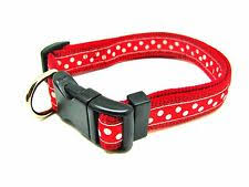 Rosewood Wag 'n' Walk red spotty collar and lead