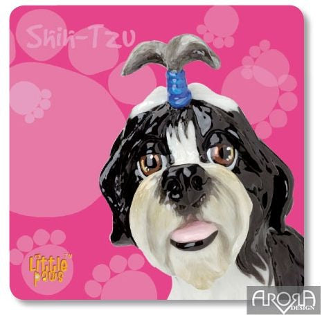 Little Paws Shih-Tzu fun Dog Breed Coaster by Arora Design