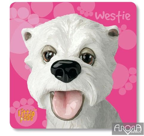 Little Paws 'Westie' fun Dog Coaster by Arora Design
