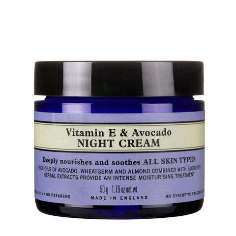 Vitamin E & Avokado Night Cream E-vitamin & avocado-natcreme
