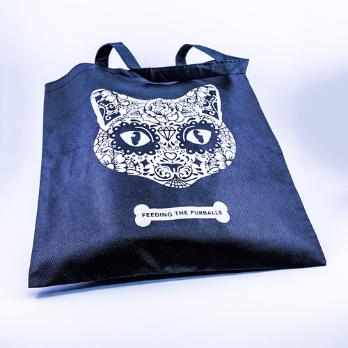 Cat lovers tote bag - cat face
